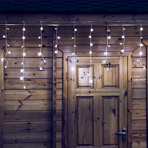 Qunlight - Luces LED de 300 litros, luz blanca cálida, 8 modos con enchufe de 30 V para bodas, fiestas, dormitorios, hogar, jardín, exteriores, paredes interiores, decoraciones de Navidad, conectables