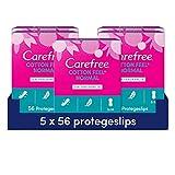 Carefree Algodón Normales - Protegeslips sin perfume, flexible y ultrafino, 280 unidades
