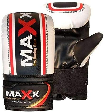 Maxx 6 Pcs set, 5FT BLACK/White Heavy Filled Punch bag, punching bag, boxing bag with WALL BRACKET +FREE CHAIN
