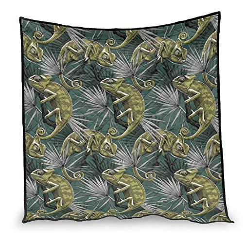 Dessionop Edredón de lujo vintage con estampado de hojas del bosque conchado, color blanco 7, 230 x 280 cm
