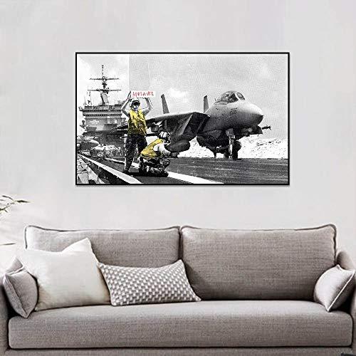 Geiqianjiumai vliegtuig poster en afdrukken woonkamer muurschildering muurkunst decoratie canvas muurschildering slaapkamer frameloos schilderwerk