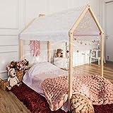 Montessori casa de la cama. Se incluyen listones de madera. (190x90cm)