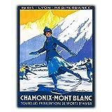 Froy Chamonix-Mont Blanc Wand Blechschild Retro Eisen