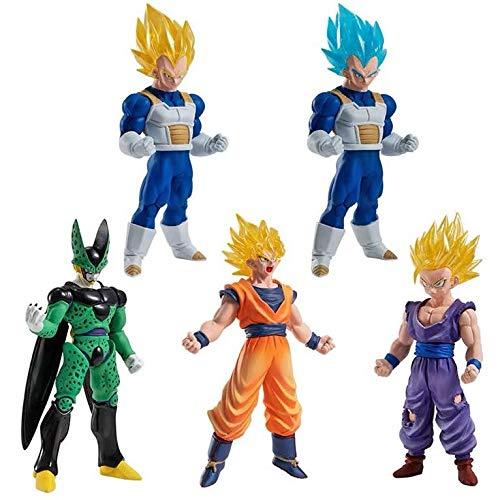 DB Dragon Ball Super Gashapon HG 05 Goku Vegeta Cell Gohan PVC Mini Figura Model Figurals Dolls (Cell)