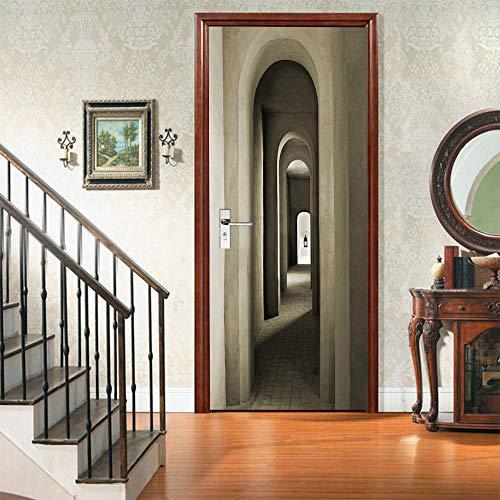 Warreal Adesivi per Porte del Corridoio 3D di Protezione Ambientale Creativa Adesivi Murali Autoadesivi per La Ristrutturazione della Camera da Letto