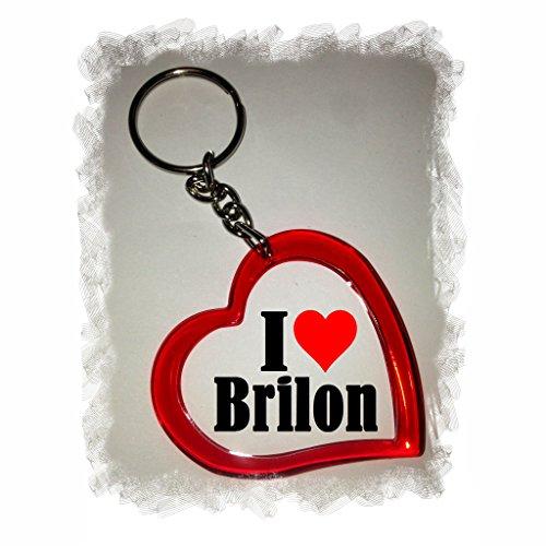 Druckerlebnis24 Herz Schlüsselanhänger I Love Brilon - Exclusiver Geschenktipp zu Weihnachten Jahrestag Geburtstag Lieblingsmensch