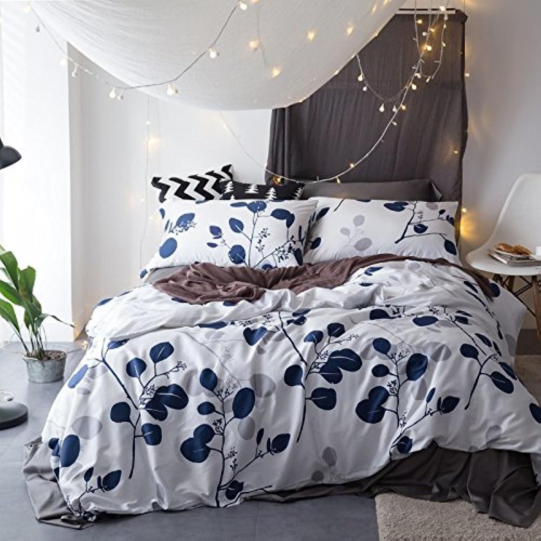 ZHUDJ Le Bleu Et Blanc Quilt Quilt Kit Imprimer Kit,Reine,Yemei