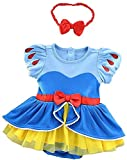 Lovely Mermaid Baby Girls Princess Dress Costume Onesie Romper Bodysuit Halloween Christmas Dress Up (932 Snow White,0-6 Months)