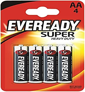 Eveready Super Heavy Duty AA Batteries Pack Of 4