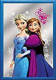 Empire Merchandising 667007 Frozen, Snow Queen Anna y Elsa, Espejo con decoración y Marco, Culto-Espejo, tamaño 20 x 30 cm