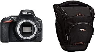 Nikon D5600- Cámara réflex de 24.2 MP sin objectivo (Pantalla táctil de 3 Full HD) Negro versión Europea + AmazonBasics - Funda para cámara de Fotos réflex Color Negro