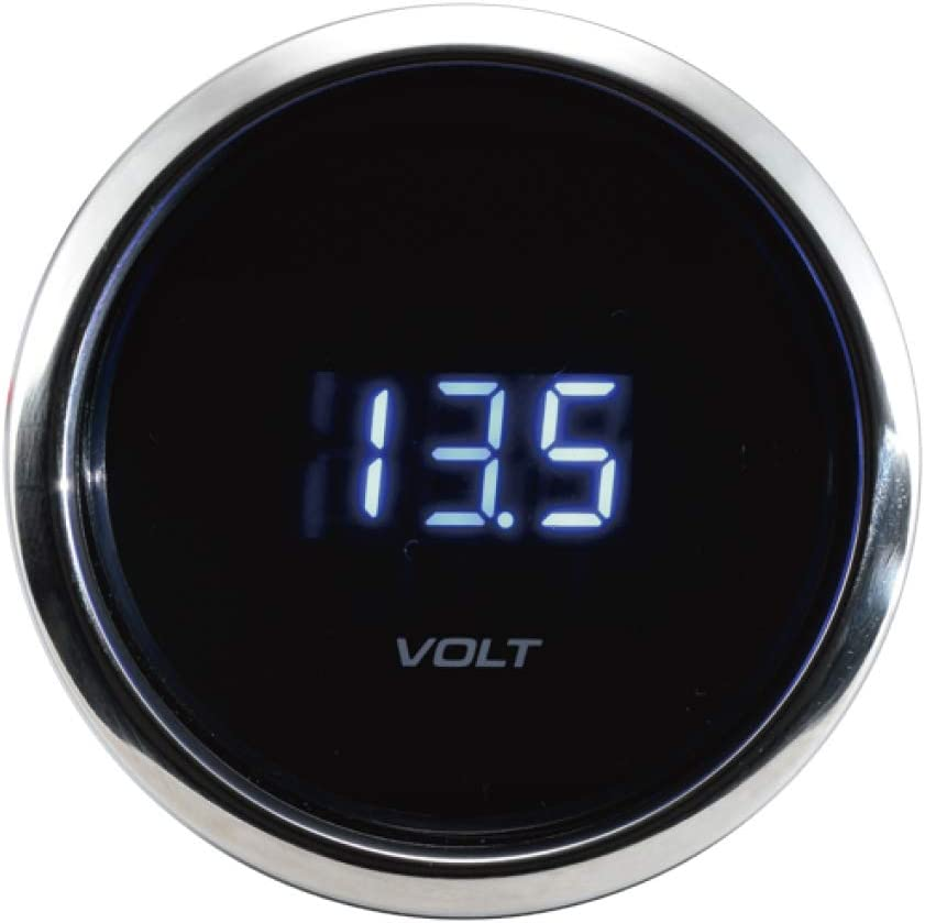 MOTOR Super-cheap METER RACING Digital Volt Gauge Blue Dimmer LED OFFicial Display 2
