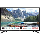 SHARP 1T C32BC3KH2FB 32 Inch Smart TV, HD Ready LED Display with Harman/Kardon Speakers, Dolby Digital Audio Decoder, 3 x HDMI, 2 x USB, Freeview Play and Wireless Streaming - Black, Energy Class F