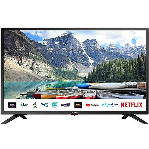 SHARP 1T C32BC3KH2FB 32 Inch Smart TV, HD Ready LED Display with Harman/Kardon Speakers, Dolby...