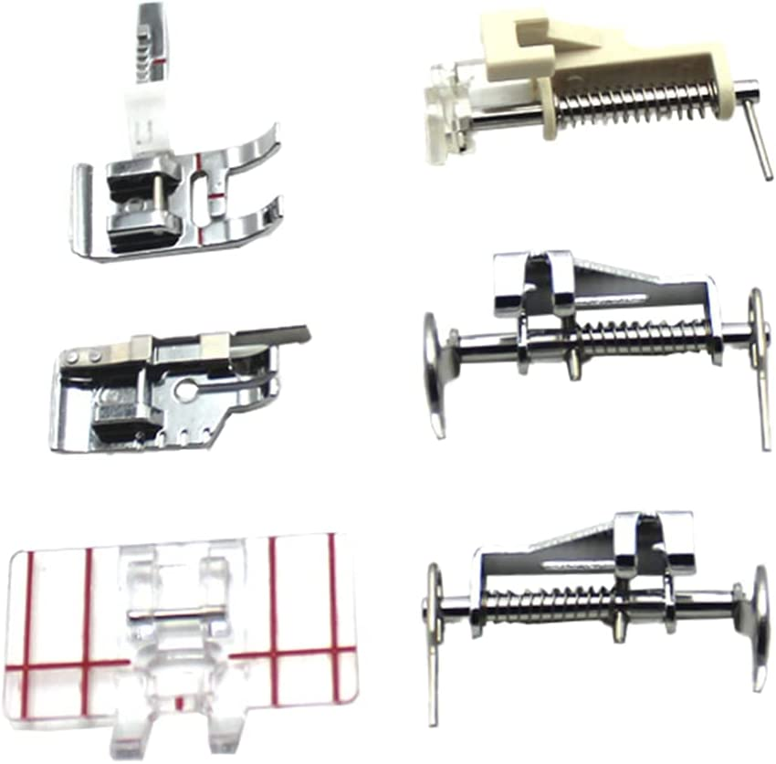 EXCEART Popular product 6pcs Sewing Machine Presser on Straight Don't miss the campaign Snap Feet Stitch