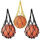Portador Bolso de Red de Baloncesto Voleibol Futból Accesorio de Deportes Multiusos de Nylón Bolsillo Montar al Aire Libre, 3 Paquetes