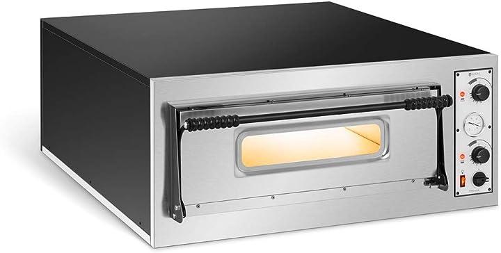 Forno elettrico professionale per pizza forno per pizzeria rc-pob6 (1 camera, 6 x Ø 32 cm) royal catering