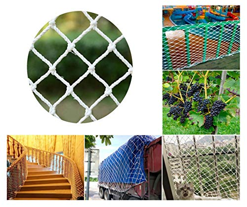 Trellis Netting,Child Pet Safety Anti-fall Protective Rail Net Garden Plant Climbing Lattice Grid Replacement Goal Mesh,for Stairs Balcony Security Risks,1*1m(3.3*3.3ft)-Larger Size,Customization