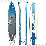Bluefin SUP Aufblasbares Stand Up Paddel Board | 6 Zoll | Kajak Umbausatz | Komplettes Zubehör enthalten | Mehrere Größen: Kinder, 10'8, 12, 15 Zoll