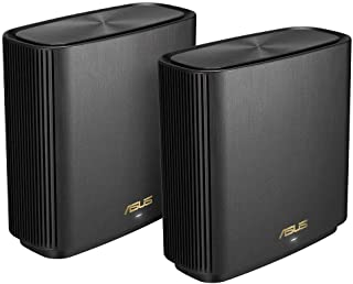 ASUS ZenWiFi AX Whole-Home Tri-Band Mesh WiFi 6 System(XT8), Coverage Up to 410 sq m or 4400 sq ft or 6+ Rooms, 6.6 Gbps W...