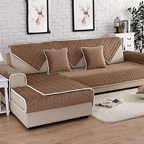 [Algodón] Cubiertas de sofás, Four Seasons Living Sala de estar Simple Sofá Moderno Sofá Asegocatina Anti-Skidding Cumple con la tapa completa Sofá Muebles Protector-D 110x110cm (43x43 pulgadas)
