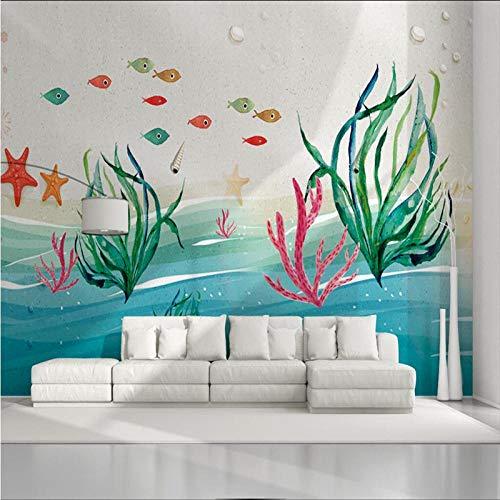 ZDBWJJ Kreative 3D Tapeten Für Kinderzimmer Wohnzimmer Dekoration Tapeten für Wände 3D Foto Tapeten Auto toom Blatt Wandbilder-350cmx245cm