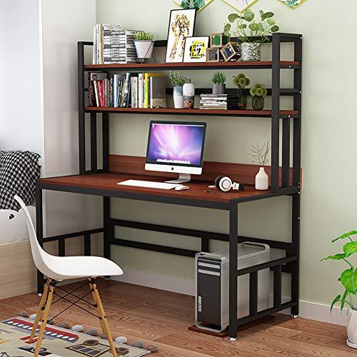 Moderna Scrittorio con, Postazioni di Lavoro per Computer Grande Tavolo da Ufficio Durevole Banco di Studio per Gli Studenti Pc-c 120x60cm/47.2x23.6inch