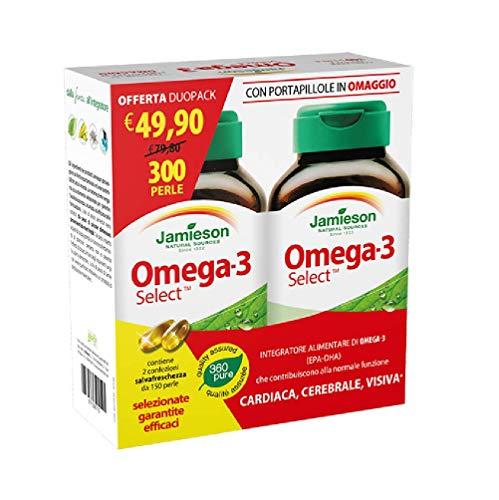 Omega 3 Select DuoPack (2x150prl) con porta pillole OMAGGIO - JAMIESON