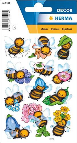 Sticker/Schmucketikett Decor Lustige Bienen 3Blatt/1 Pack