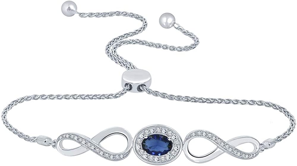 Elmas 1 10ct Round White Diamond Blue Sapphire Sterling Dealing full price reduction Today's only I Silver