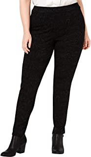 Style & Co. Womens Plus Printed Mid-Rise Leggings