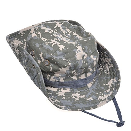Contever® Chapeau Rond de Peche Chasse Brousse Pare-soleil Hat pour activités de plein air Voyage Randonnée Camping--ACU