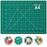 Self Healing Sewing Mat, Anezus Rotary Cutting Mat Double Sided 5-Ply Craft Cutting Board for Sewing Crafts Hobby Fabric Precision Scrapbooking Project 9' x 12'(A4)