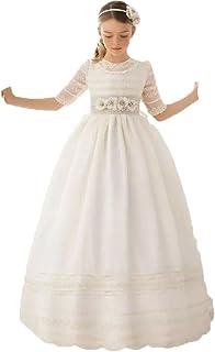 9320164b6 Auxico Linda Vestidos de niña de las flores Para Bodas Vestido del desfile Vestidos  de comunión