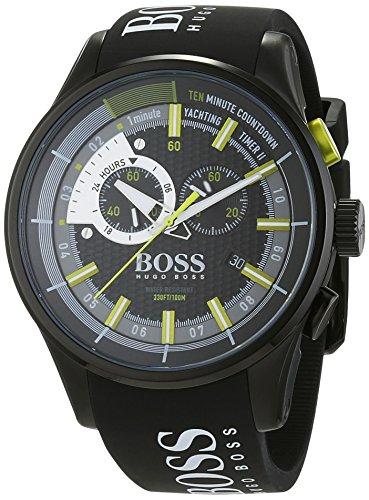 Hugo Boss Herren Chronograph Quarz Uhr mit Silikon Armband 1513337