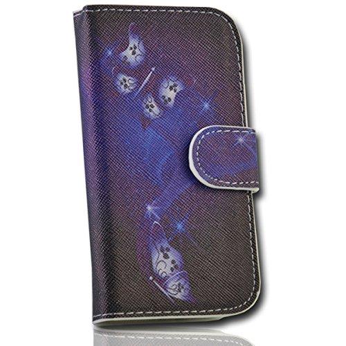 Book Style Handy Tasche - Design No.3 - Cover Case Hülle Etui für Huawei Ascend Y300
