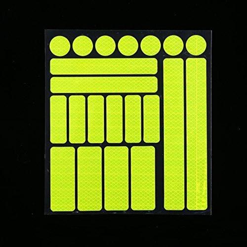 Huien Bike Reflecterende Stickers Motorfiets Fiets Reflector Fietsen Waarschuwing Reflector Film Fietsen Sticker Tape Fietsstickers, geel