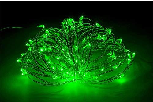10 M 100 lampjes USB koperdraad lichtslingers, decoratieve verlichting DC5V lichtslingers, led lichtslingers-5 M 50 lichtjes groen