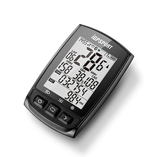 iGPSPORT iGS50E Compteur vélo GPS Ant+ sans Fil avec Grand écran Compatible avec la Cadence Vitesse Capteur fréquence Cardiaque 19 Fonction (Noir,Ne Pas inclure Le capteur)