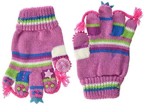 Döll Döll Baby-Mädchen Fingerhandschuhe Strick Handschuhe, Rot (Cyclamen 2102), S (Herstellergröße: 3)