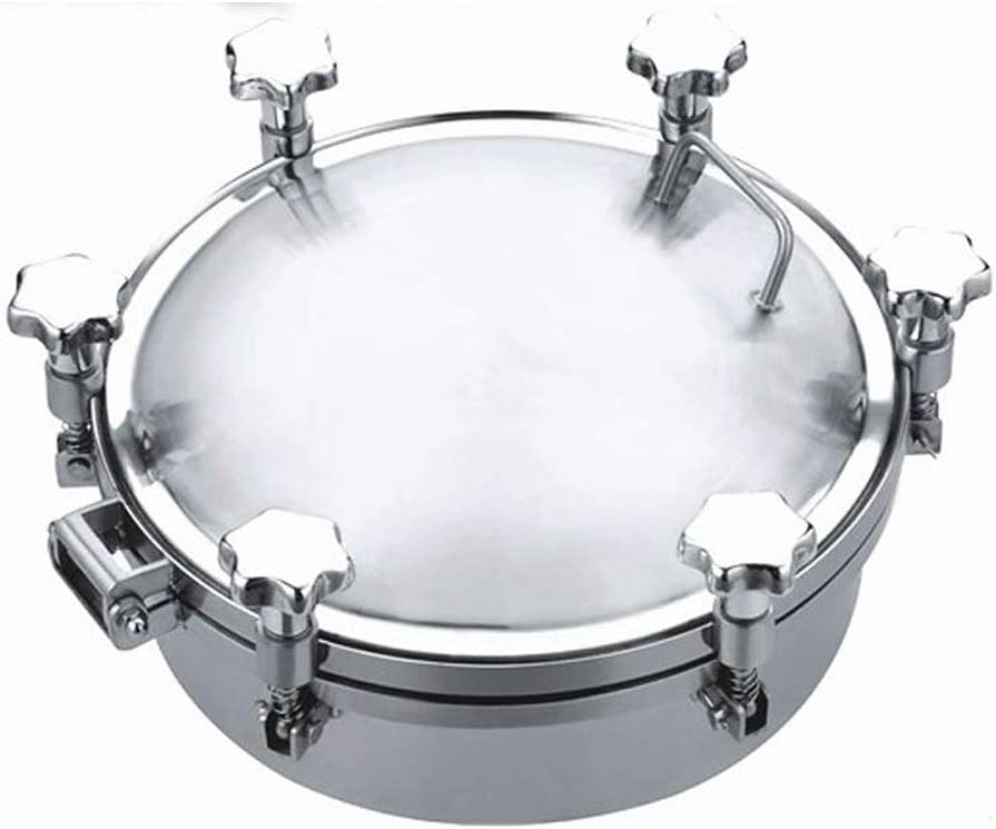 INTBUYING Stainless Portland Mall Steel Pressure depot Sanitary Manhole R Cover Tank