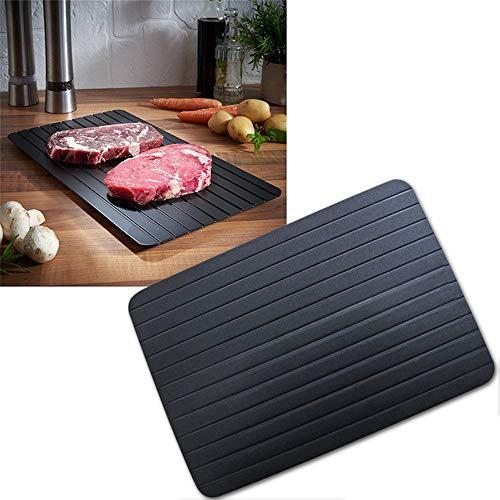 QINGJIANG - Vassoio per scongelamento e scongelamento per carne e cibi surgelati cucina (29,5 x 20,3 x 0,3 cm)