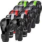 LNX Boxhandschuhe Stealth - Männer Frauen 8 10 12 14 16 Oz - ideal für Kickboxen Boxen Muay Thai MMA Kampfsport UVM Energy Green (301) 12 Oz