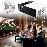 Rosvola 3D-Mini Projektor, tragbarer Ultra-HD LED 4K Kino Beamer WiFi Bluetooth 1080P mit Fernbedienung für Smartphone Heimkino Unterhaltung 110-240V(EU)