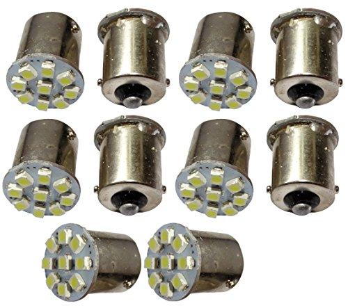 AERZETIX: 10 x Bombillas 24V P21W R10W R5W 9LED SMD