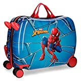 Maleta infantil con ruedas multidireccionales Spiderman Black