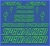 Ecoshirt IQ-3F84-081L Aufkleber Special FUsted Dr1075 Vinyl Adesivi Decal Aufkleber Polyurethan(Polyurethan) MTB Stickers Bike, grün