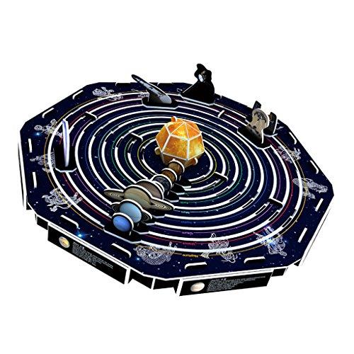 sharprepublic DIY 3D Puzzle Papier Dimensionale Modell Montiert Denkaufgabe Pädagogisches Spielzeug - Solar System