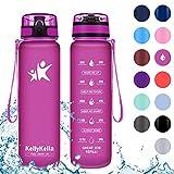 KollyKolla Botella Agua Sin BPA Deportes - 500ml, Reutilizables Ecológica...
