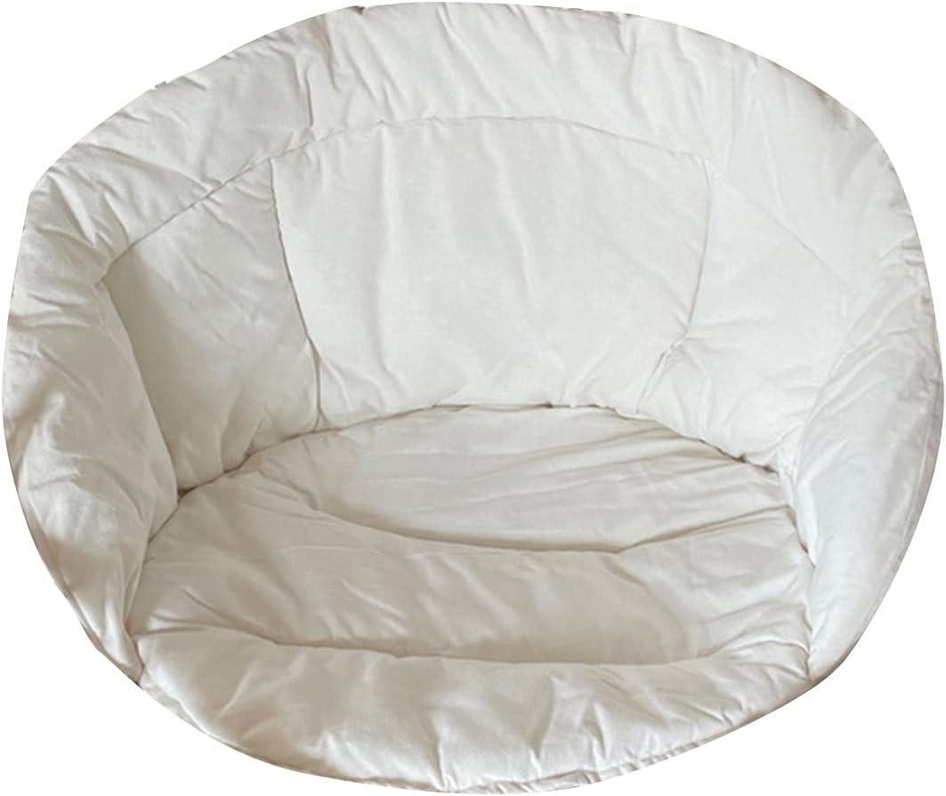 PYLTT Cojín suave para silla colgante, cojín redondo para colgar silla, silla de hamaca, cómodo cojín reclinable para sofá para el hogar, sala de estar, oficina, 60 x 60 x 45 cm